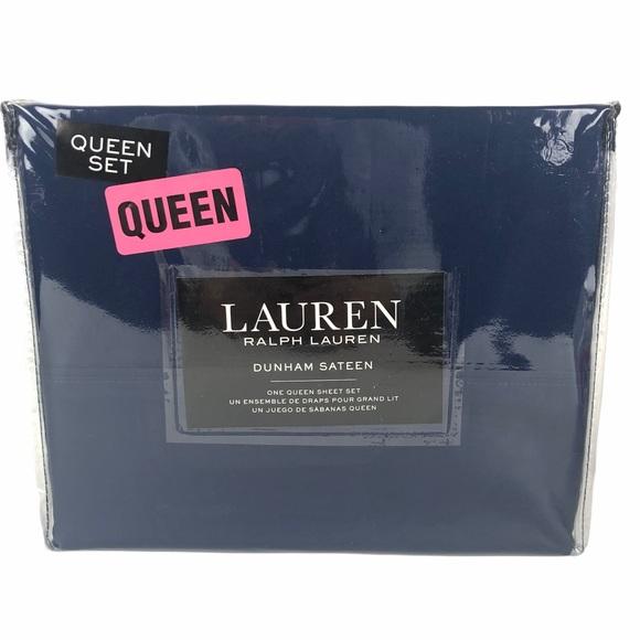 Ralph Lauren Dunham Sheet Set Cadet Blue